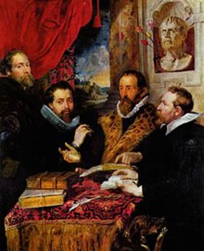 Les quatre philosophes, Sir Peter Paul Rubens, c. 1615,  Palazzo Pitti, Firenze