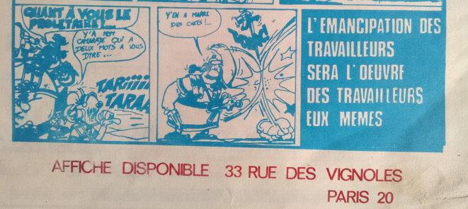 Détail de l'affiche dans «Front libertaire» n°36 de décembre 1974 © FACL