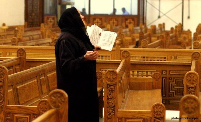 Femme Copte église Assouan © Patrick Compas