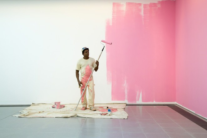 Duane Hanson - House Painter I (1984-1988) at Serpentine Gallery, London (2015) © Luke Hayes