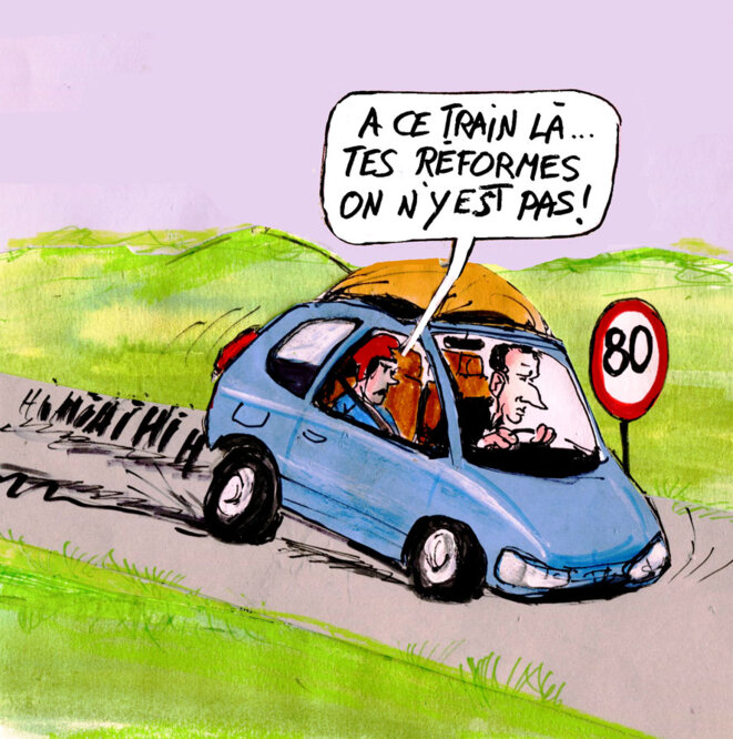 limitation de vitesse © Calvi