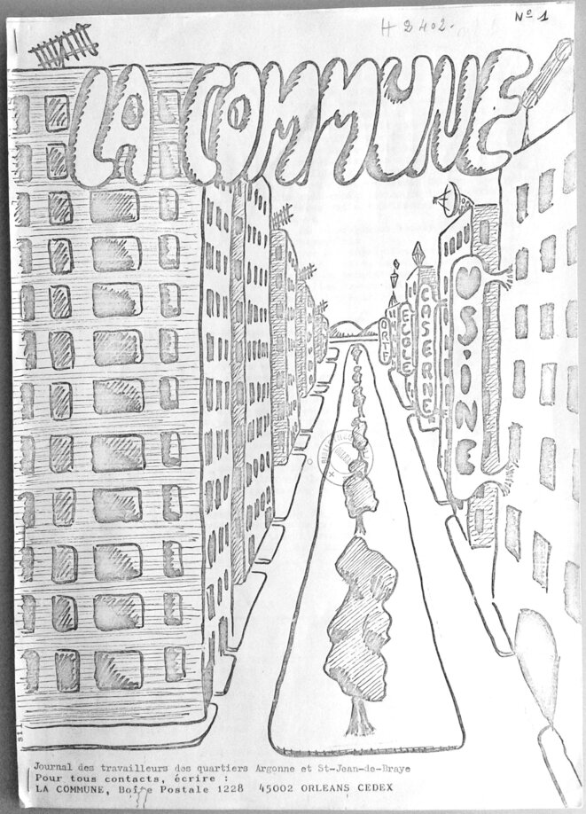«La Commune» n°1, 1976 © Médiathèque d'Orléans