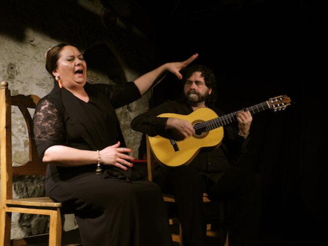 Mari Peña et Antonio Moya lors d'un concert à Flamenco en France le 24 mars 2017 © René Robert