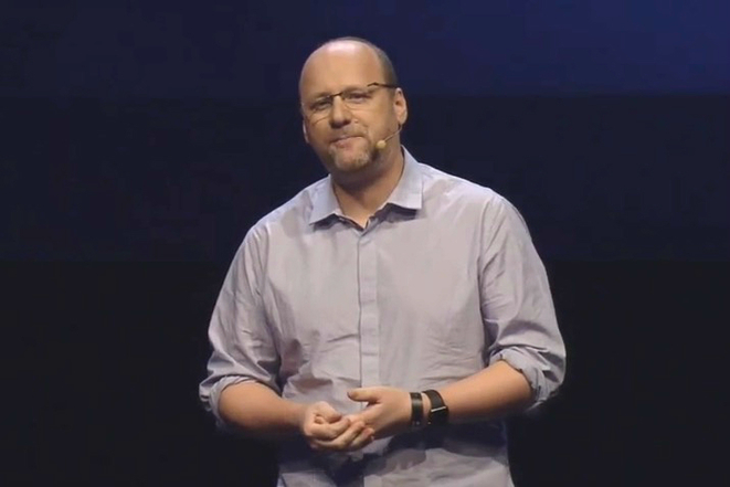David Cage, fondateur de Quantic Dream, à la Paris Games Week en novembre 2017. © capture d'une vidéo youtube de l'événement.