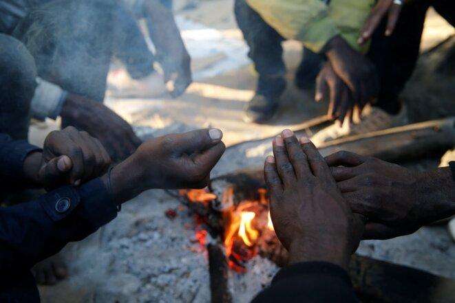 Des exilés soudanais à Ouistreham (Calvados), le 30 octobre 2017. © Reuters