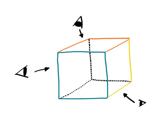 Un cube pour mieux réfléchir... © ZèdeGRAFIK(l'illustraiton pour le dire)