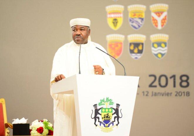 Gabon-Nouvel-An-2018-Ali-Bongo-Ondimba-Vœux-2018-des-Forces-de-défense-et-de-sécurité