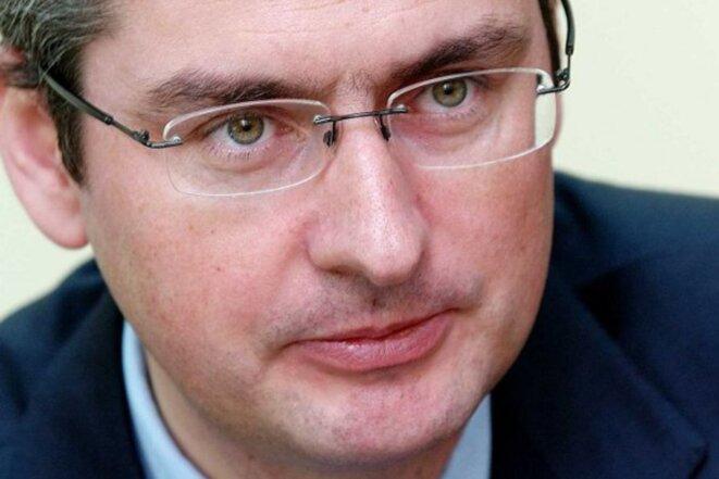 L'une des rares photos d'Emmanuel Besnier, le PDG de Lactalis, prise dans les années 2000. © DR