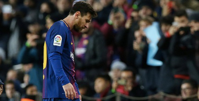 Hundred-million-a-year-man: Lionel Messi after a cup match against Celta Vigo on January 11th, 2018. © Albert Gea/Reuters