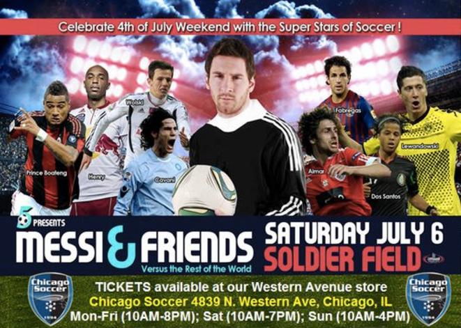 Affiche promotionnelle d'un des matchs de gala, à Chicago © DR