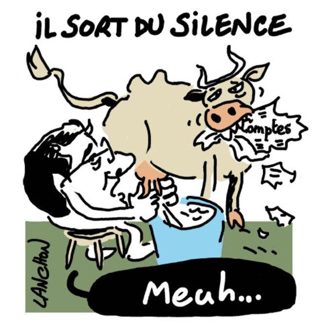 Le PDG de Lactalis contraint à la parole © Agnès Lanchon