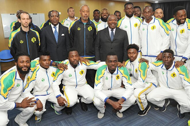 Gabon inauguration par ali bongo ondimba du nouveau palais des sports de libreville le club - Coupe d afrique handball ...