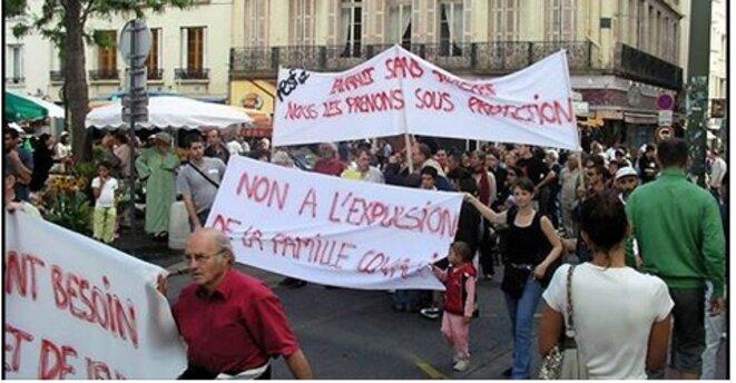 Manifestation à Saint-Etienne des défenseurs des migrants [Ph. compte Facebook d'Agir-Ensemble42]