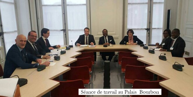 Communiqué de l'Ambassade du Gabon en France: Flavien Enongoué reçu au Palais Bourbon