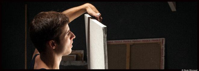 Silvère Jarrosson, le plasticien qui fait danser la peinture © Alexis Allemand