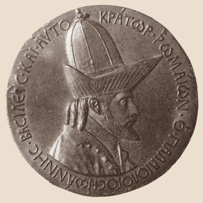 Figure 2 : Jean VIIIPaléologue, médaille d'Antonio Pisanello, 1438/9, Florence, Musée du Bargello