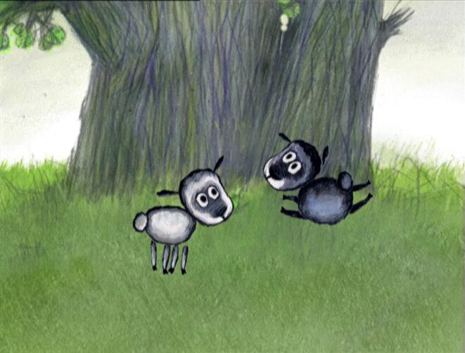 """""""Les Deux moutons"""" de Julia Dashchinskaya © ARTE Éditions"""
