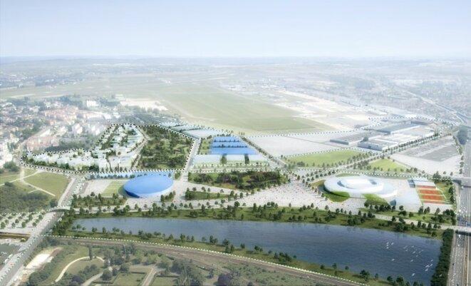Le site du «Village des médias» de Paris 2024, prévu sur le site de Paris-Le Bourget, est en discussion. © Luxigon / Paris 2024