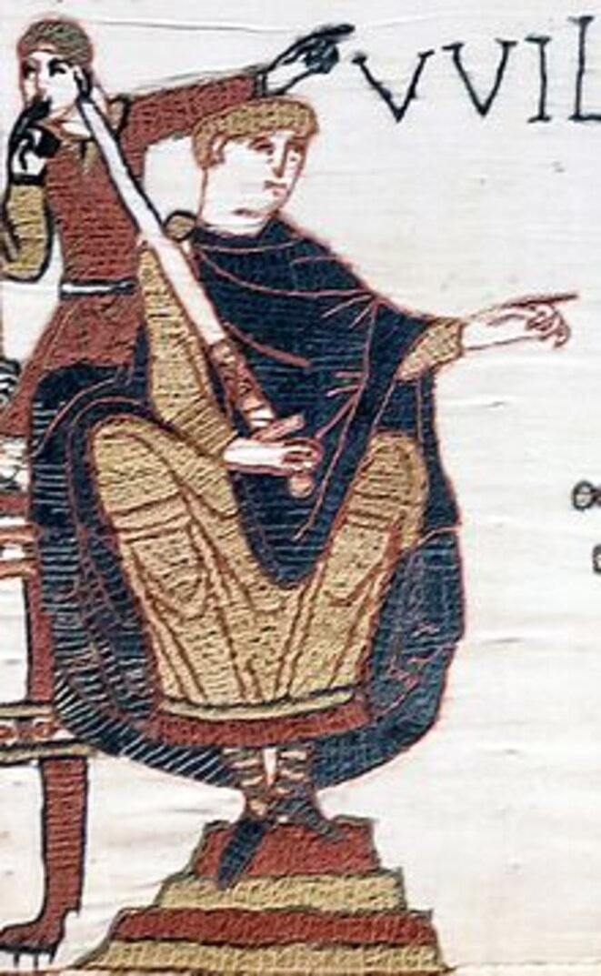 William the Conqueror, as depicted in the Bayeux Tapestry.