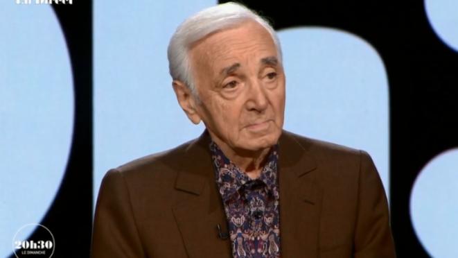 Charles Aznavour sur le plateau de France 2, le 6 janvier 2018 © (capture d'écran)