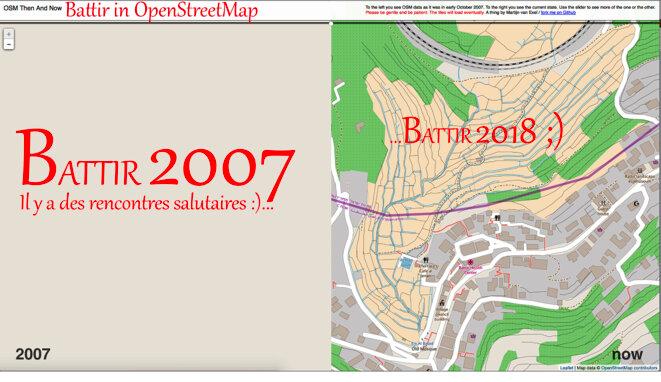 OSM Then And Now https://mvexel.github.io/thenandnow/#14/31.7104/35.1254 par Martijn Van Exel