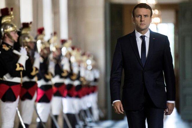 Emmanuel Macron à Versailles, le 3 juillet 2017. © Reuters