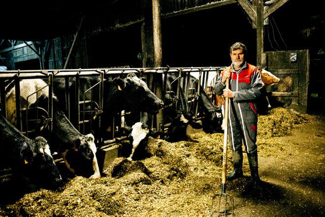 Marcel Thébault, paysan historique de la ZAD. © Yann Levy / Hans Lucas