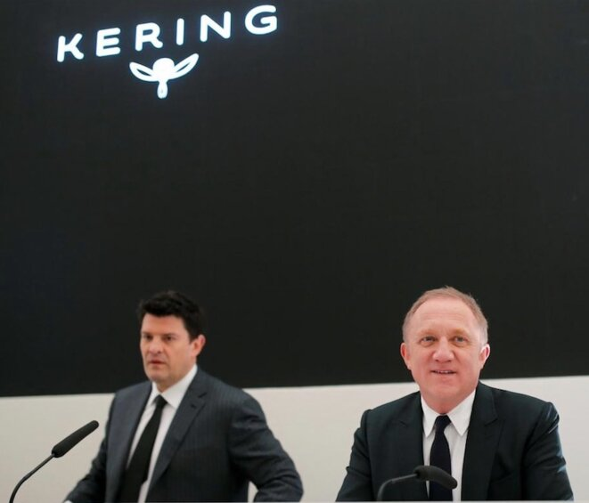 François-Henri Pinault, PDG de Kering, et son bras droit Jean-François Palus (à gauche), numéro 2 du groupe © Reuters