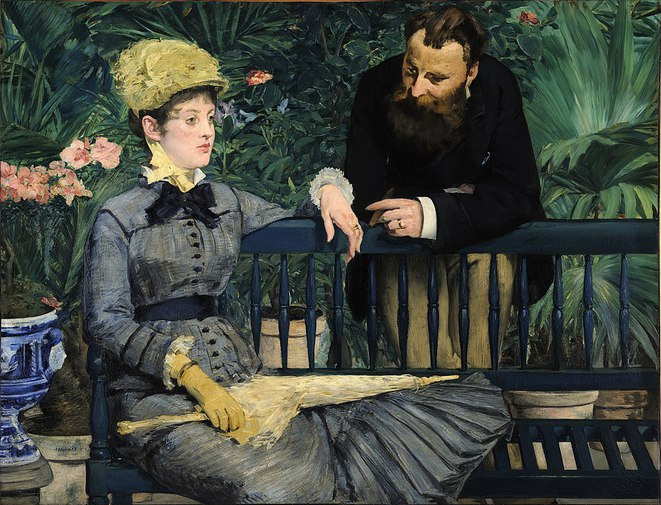 Dans la serre, Monsieur et Madame Guillemet dans la serre (1879), Berlin, Alte Nationalgalerie. © Edouard Manet