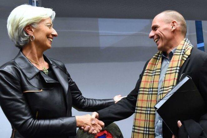 Christine Lagarde, directrice du FMI, et Yanis Varoufakis