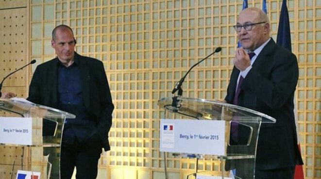 Yanis Varoufakis et Michel Sapin