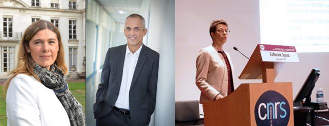Anne Peyroche, Antoine Petit et Catherine Jessus. © CNRS