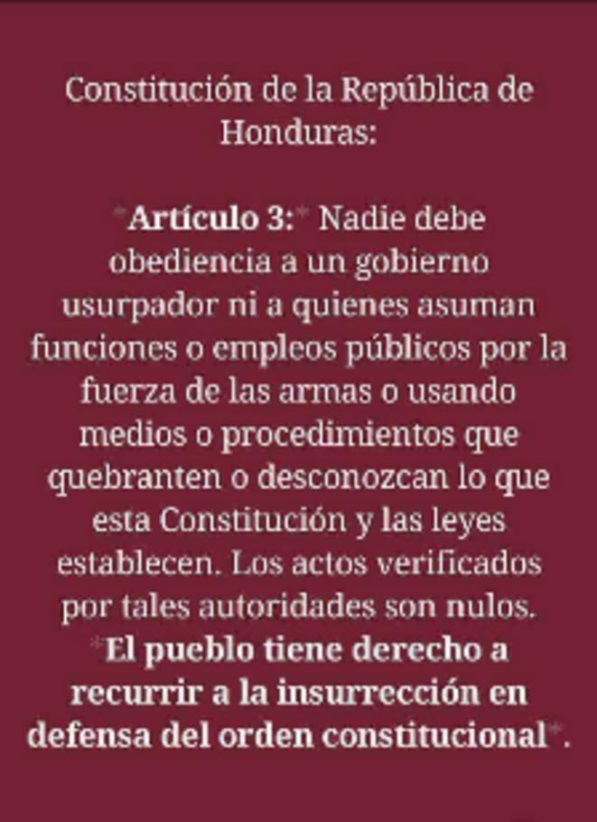 Article 3 de la Constitution du Honduras