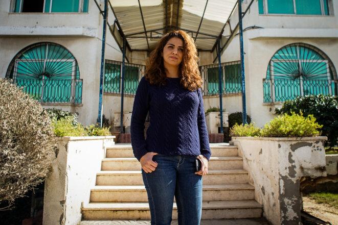 Lubna Beseisso s'inquiète du délitement du tissu social en raison du stress et des traumas imposés à la population © Thomas Cantaloube