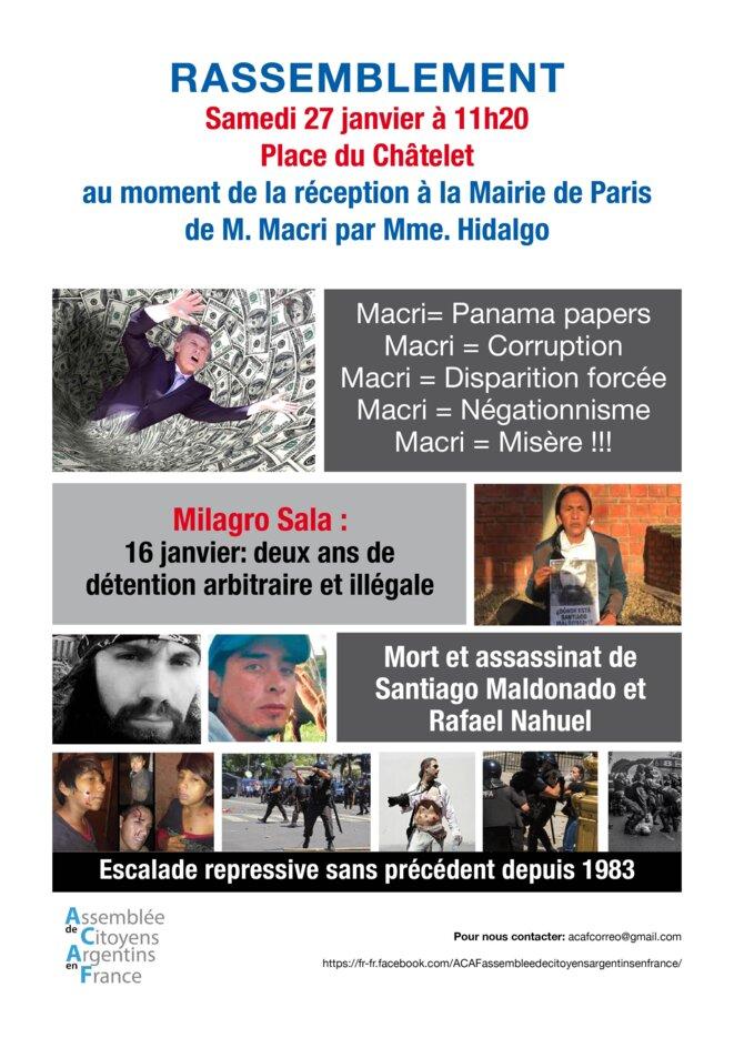 Macri invité à la Mairie de Paris © ACAF