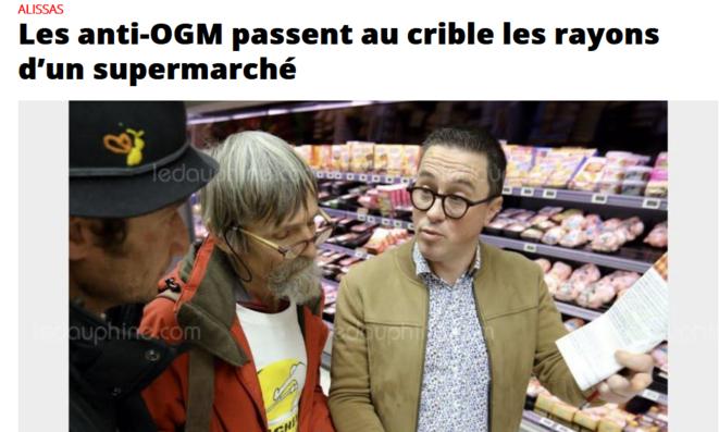 Article du Dauphiné Libéré du 28/01/2018