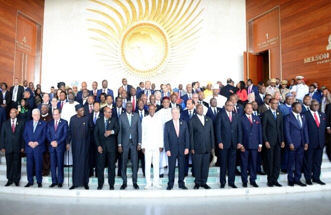 30e sommet de l'union Africaine-28 janvier  2018 -Photo de famille