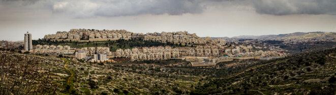 La colonie israélienne de Bar-Homa, implantée à Jérusalem-Est. © Thomas Cantaloube