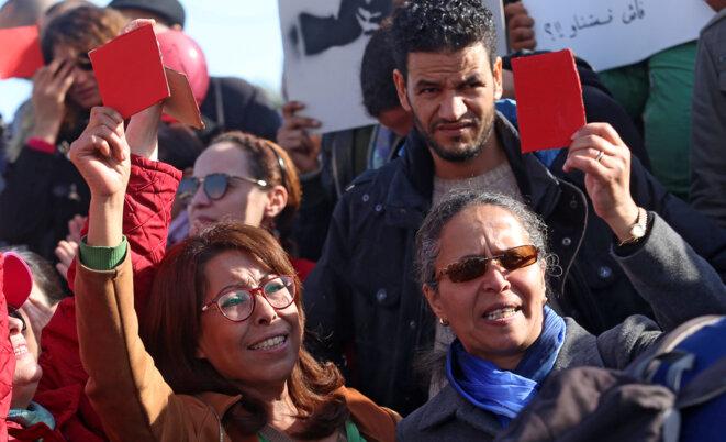 Manifestation à Tunis, le 26 janvier 2018, contre les hausses des prix et des taxes. © Reuters
