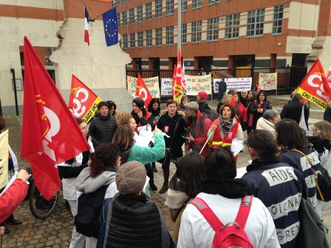 À Toulouse, mardi 30 janvier © ES.