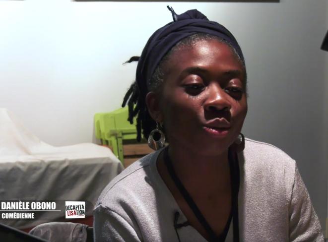 Danielle Obono dans le rôle d'une activiste © Pierre Zellner