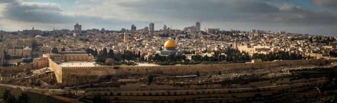 L'esplanade des Mosquées ou mont du Temple, à Jérusalem, un des points de discorde entre Israéliens et Palestiniens © Thomas Cantaloube