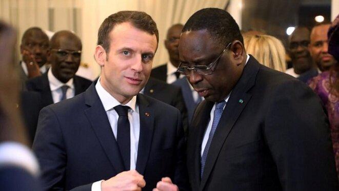 Les président Macky Sall et Emmanuel Macron