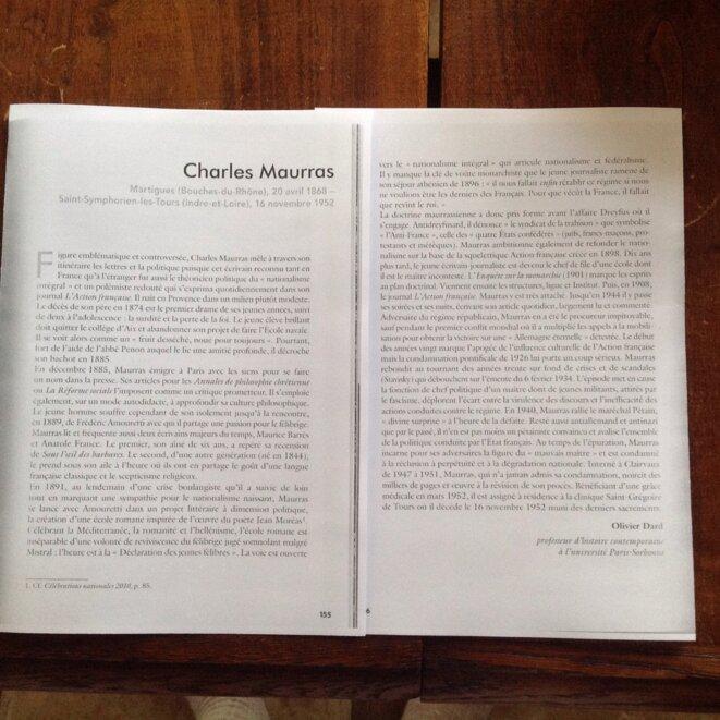 La note sur Maurras a laquelle nous avons échappé