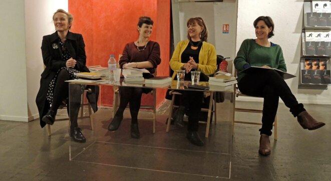 Marine Jubin, Anne Delaplace, Elsa Osorio, Stéphanie Perrin, à la librairie l'Imagigraphe, Paris le 31 janvier 2018 © Gilles Walusinski