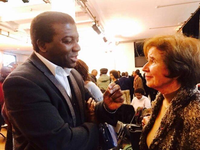 Ibrahime Sorel Keita ( vice président SOS Racisme) et Beate Klarsfeld © thierry Paul Valette - Égalité Nationale.