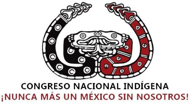 """Symbole officiel du Congrès Nacional Indigène / """"Plus jamais de Mexique sans nous !"""" © CNI"""