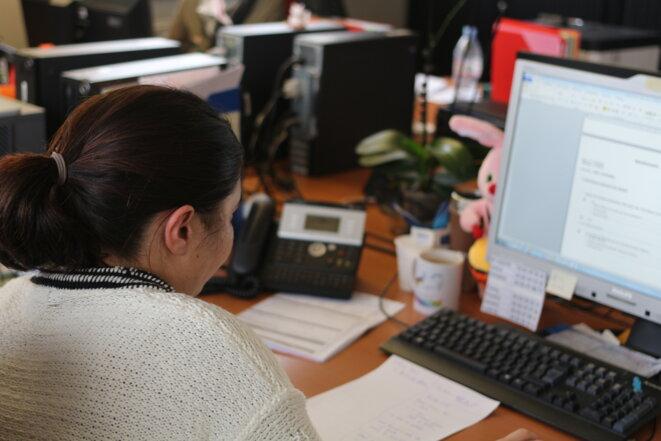 Dans le service de contrôle de la recherche effective d'emploi, de Pôle emploi à Nancy. © MG