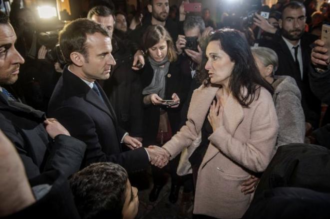 Emmanuel Macron et Stéphanie Colonna. © Reuters