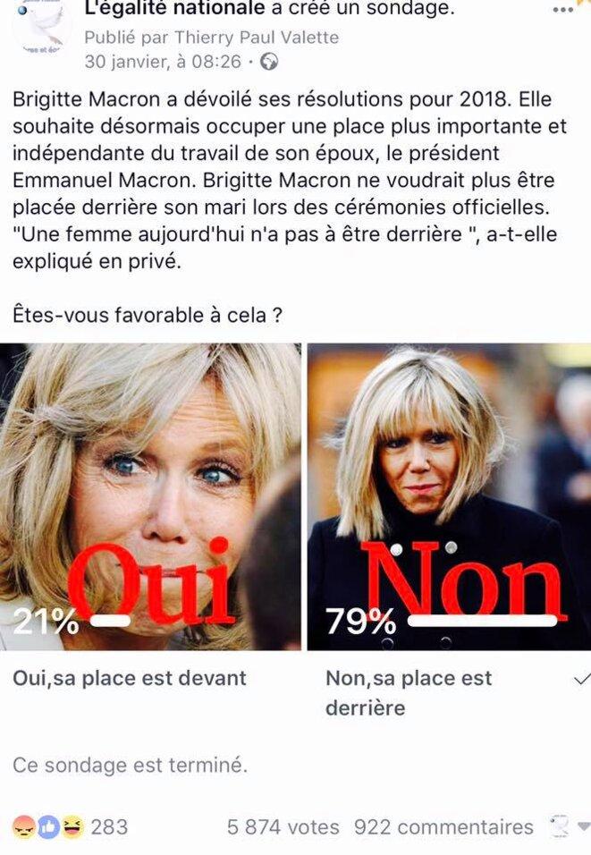 Sondage brigitte macron © Egalité NATIONALE